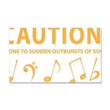 Caution: Prone to Sudden Outb Rectangle Car Magnet