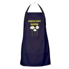 oncology nurse daisies shirt YELLOW Apron (dark)