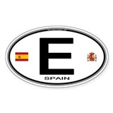 Spain Euro-style Country Code Oval Decal