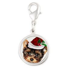 Christmas Yorkshire Terrier dog Charms