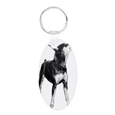 Miniature Pinscher Sketch Keychains
