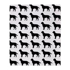 Labrador Retriever Silhouette Flip F Throw Blanket