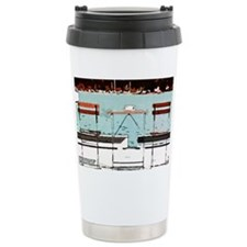 Seaside Table for Two Ceramic Travel Mug