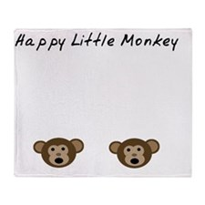 Happy Little Monkey Throw Blanket