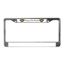 Happy Little Monkey License Plate Frame