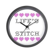 Life's a Stitch - Cross Stitch Wall Clock