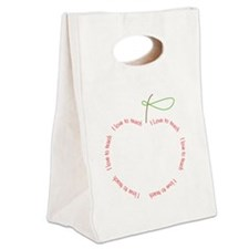 I Love to Teach Canvas Lunch Tote