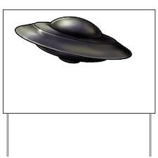 Flying Saucer Yard Sign
