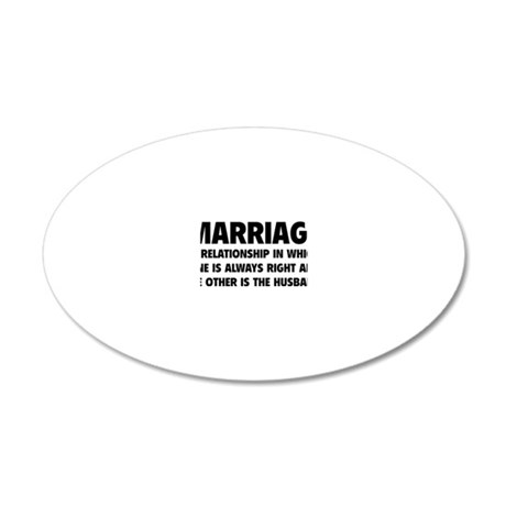 marriageHusb1A 20x12 Oval Wall Decal