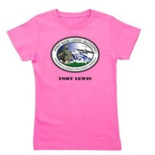 Fort Lewis with Text Girl's Tee