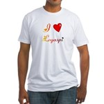 I Love Legaspi Gifts Fitted T-Shirt