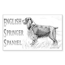 English Springer Spaniel Rectangle Decal