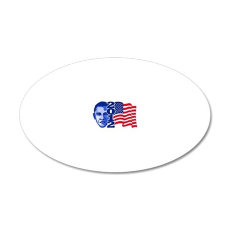 Obama 2012 20x12 Oval Wall Decal