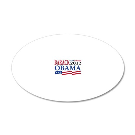 obama for pres 20x12 Oval Wall Decal