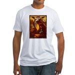 Mona Lisa Deer #1A Fitted T-Shirt