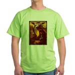 Mona Lisa Deer #1A Green T-Shirt