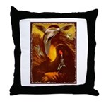 Mona Lisa Deer #1A Throw Pillow