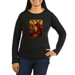 Mona Lisa Deer #1A Women's Long Sleeve Dark T-Shir
