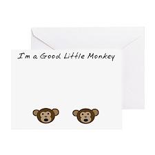 Im A Good Little Monkey Greeting Card