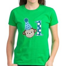 1st Birthday Cute Boy Monkey  Tee