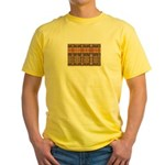 Tutankhamon's Totem Carpet Yellow T-Shirt