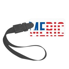 US Flag MERICA Luggage Tag