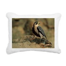 PEREGRINE FALCON ON ROCK Rectangular Canvas Pillow