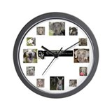 Funny Rescue weimaraner Wall Clock