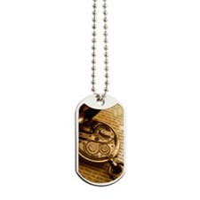 Pocket watch on book Dog Tags