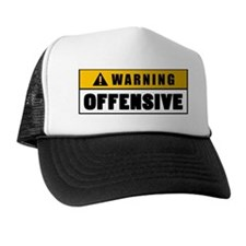 Warning Offensive Lockout Trucker Hat