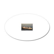 uss roanoke rectrangle magne 20x12 Oval Wall Decal