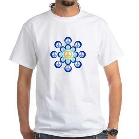 Peace Wheels Men's White T-Shirt