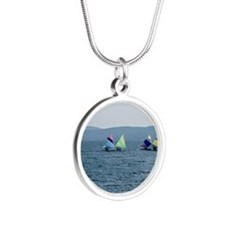 Sailing Race Silver Round Necklace