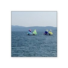 "Sailing Race Square Sticker 3"" x 3"""