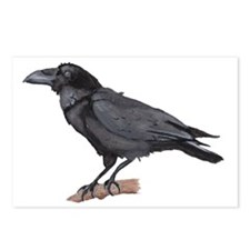 watchful Raven Postcards (Package of 8)