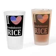 RICE I LOVEDBUTTONL Drinking Glass