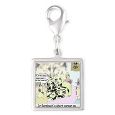 Dr Roarshach Interior Decorat Silver Square Charm