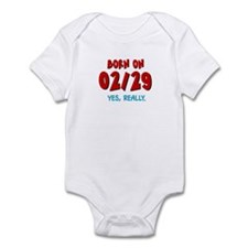 Born On 02/29 Infant Bodysuit