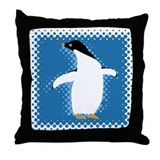 Penguin Posing Throw Pillow