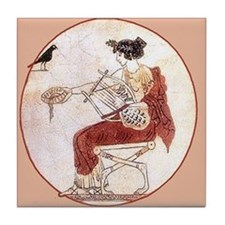 Greek Harpist- Tile Coaster