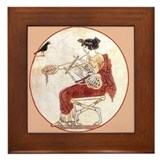 Greek Harpist- Framed Tile