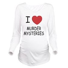 I heart murder myste Long Sleeve Maternity T-Shirt