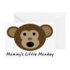 Mommys Little Monkey Greeting Card