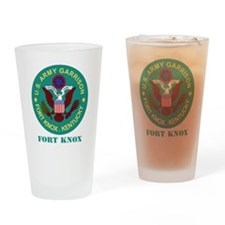 Fort Knox with Text Drinking Glass