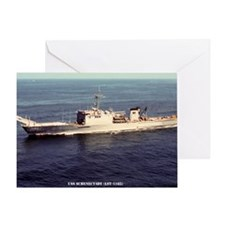 uss schenectady large framed print Greeting Card
