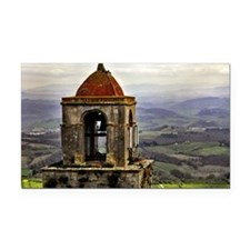 San Gimignano bell tower in T Rectangle Car Magnet