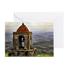 San Gimignano bell tower in Tuscany, Greeting Card