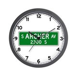 Archer Avenue, Chicago (US) Wall Clock