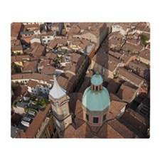 Rooftops  and  Bartolomeo Church in  Throw Blanket
