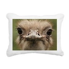 Ostrich portrait Rectangular Canvas Pillow